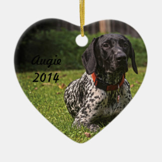 Augie heart ornament