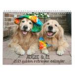 Augie & Ti Golden Retriever Calendar 2013