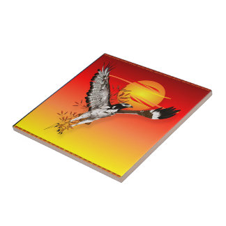 Augur meeting the morning sun Tiles-Trivets Tile