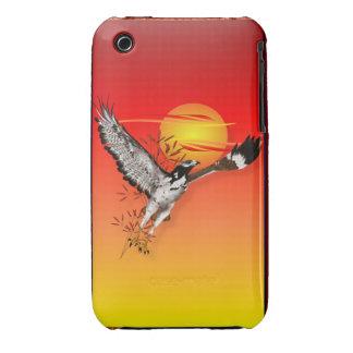 Augur que encuentra el sol de la mañana. Caso iPhone 3 Case-Mate Protectores