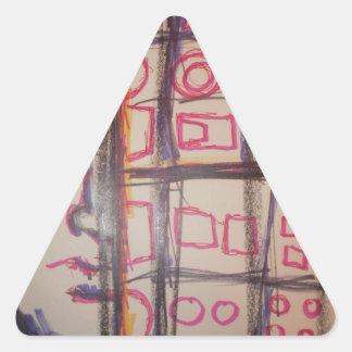 Augurio de un Symbolmancer Pegatina Triangular