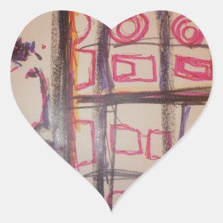 Augury of a Symbolmancer Heart Stickers