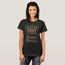 August 1991 29 Years Sunshine Hurricane T-Shirt