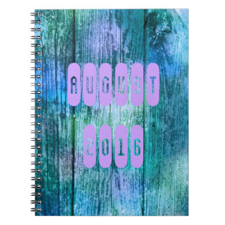 August 2016 Purple Turquoise Month Notebook