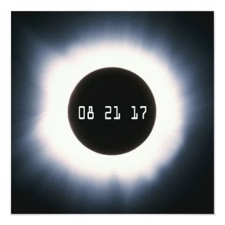 August 2017 Total Solar Eclipse in Black and White Card