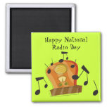 August 20th, National Radio Day Magnet