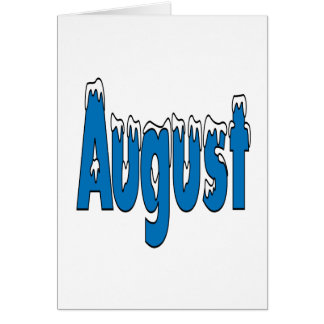 August 3 card