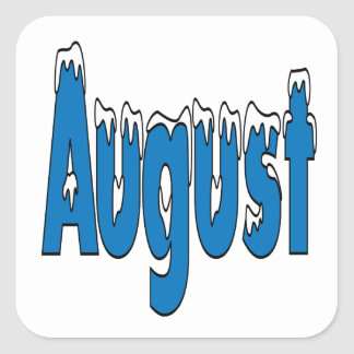 August 3 square sticker