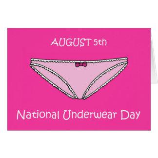 August 5th National Underwear Day Card