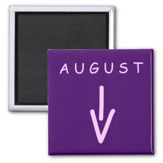 August Arrow Square Purple Magnet by Janz