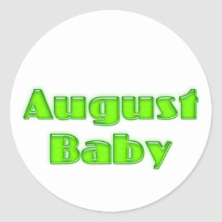 August Baby Round Stickers