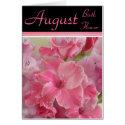 August Birth Flower - Gladiola Note Card