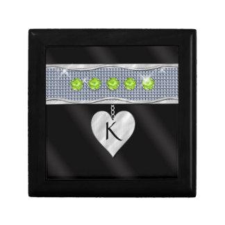 August Birthday Charm Jewelry Box