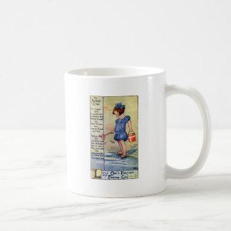 August Birthday Girl at the Beach Classic White Coffee Mug