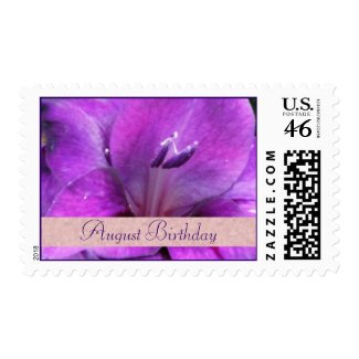 August Birthday Stamps - Gladiola Postage