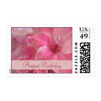 August Birthday Stamps - Gladiola Postage
