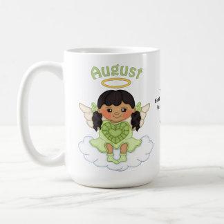 August Birthstone Angel Black Classic White Coffee Mug