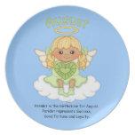 August Birthstone Angel Blonde Dinner Plates