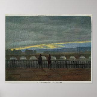 August Bridge in Dresden Print