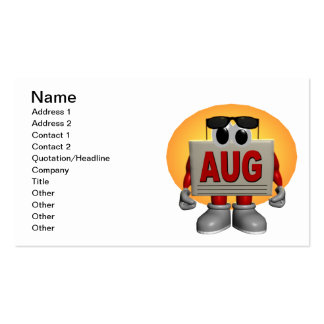 August Double-Sided Standard Business Cards (Pack Of 100)