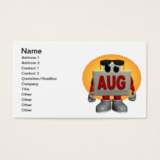 August Business Card