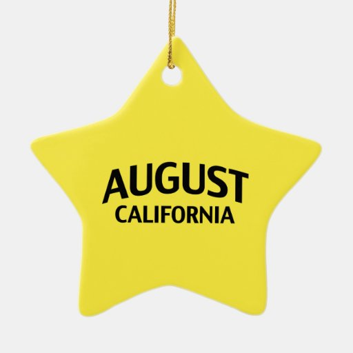 August California Double-Sided Star Ceramic Christmas Ornament
