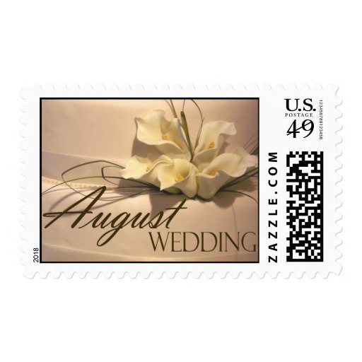 August Calla Lily Wedding Postage Stamp