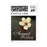 August Cherry Blossom Rust Wedding Month Postage