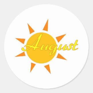 August Classic Round Sticker