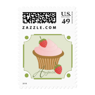 August Cupcake Postage Stamps