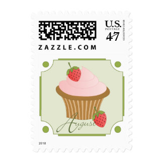 August Cupcake Stamp