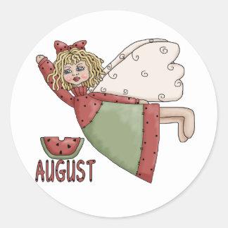 August Fairy Classic Round Sticker
