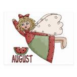 August Fairy Post Card