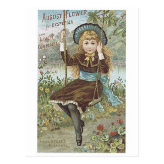 August Flower For Dyspepsia and Liver Complaint Postcard