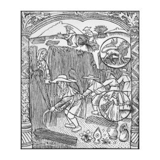 August, harvesting, Leo Canvas Print