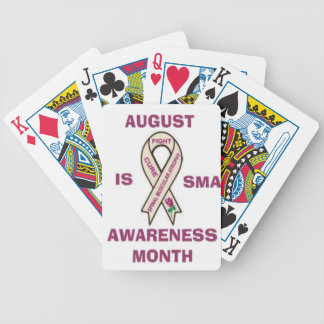 AUGUST IS SMA AWARENESS MONTH.JPG BICYCLE CARD DECKS