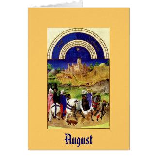 August - Les Tres Riches Heures du Duc de Berry Stationery Note Card