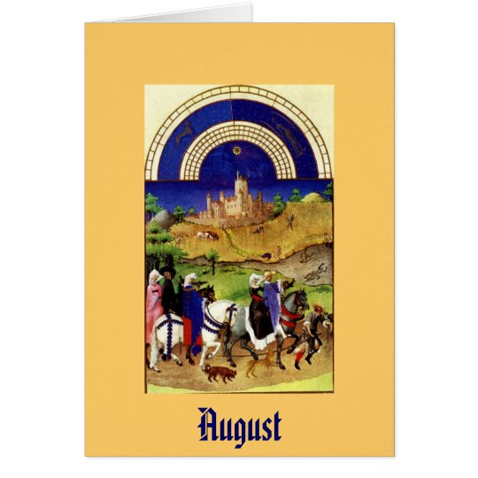 August - Les Tres Riches Heures du Duc de Berry Card