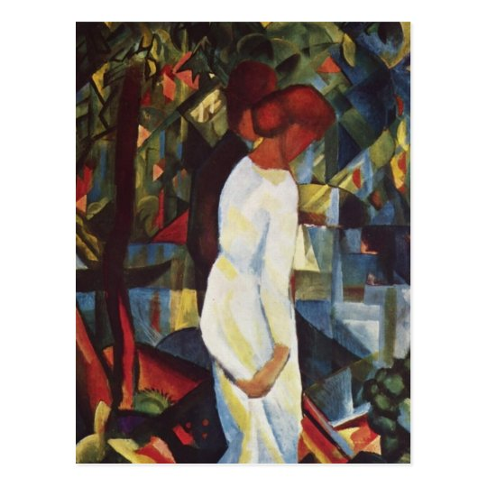 August Macke - A Couple In The Forest Postcard