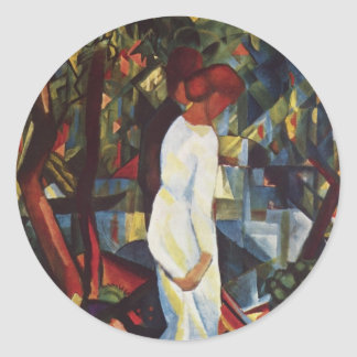 August Macke - A Couple In The Forest Sticker