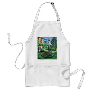 August Macke - A Garden Adult Apron