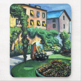 August Macke - A Garden Mouse Pad
