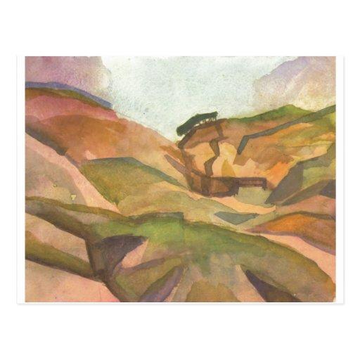 August Macke - acuarela 1914 de Schlucht Tarjeta Postal