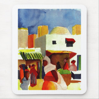 August_Macke - Algier Market 1914 Canvas Mouse Pad