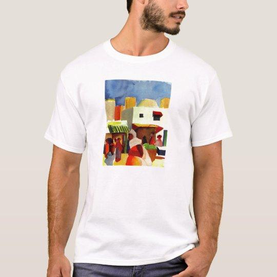August_Macke - Algier Market 1914 Canvas T-Shirt