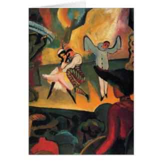 August Macke - ballet ruso Tarjeta De Felicitación