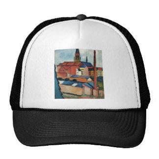 August Macke - Bonn Houses and Chimney 1911 Oil Trucker Hat