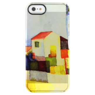 August Macke Bright House Watercolor Painting Clear iPhone SE/5/5s Case