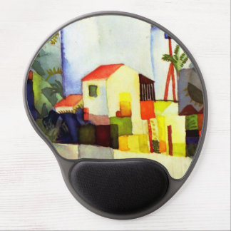 August Macke Bright House Watercolor Painting Gel Mouse Pad