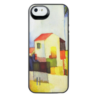 August Macke Bright House Watercolor Painting iPhone SE/5/5s Battery Case